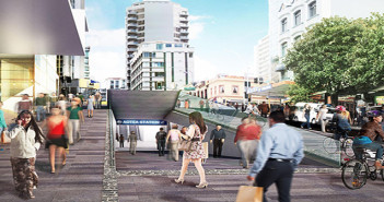 Multi-billion dollar's worth of property development  planned along the tunnel route through the CBD.