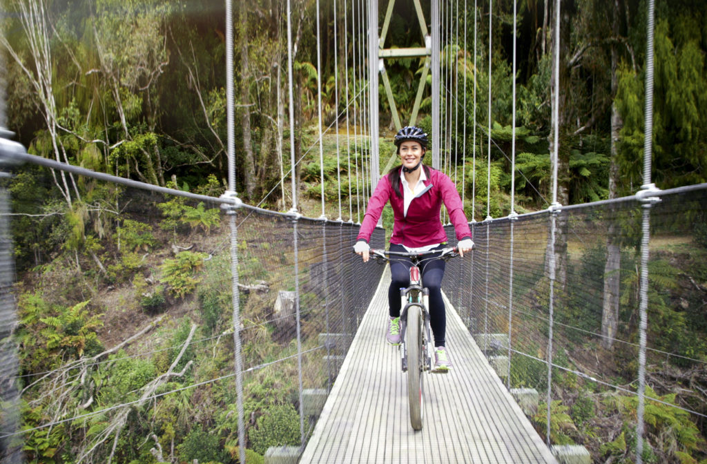 megan-gale-maramataha-bridge-the-timber-trail-tourism-new-zealand