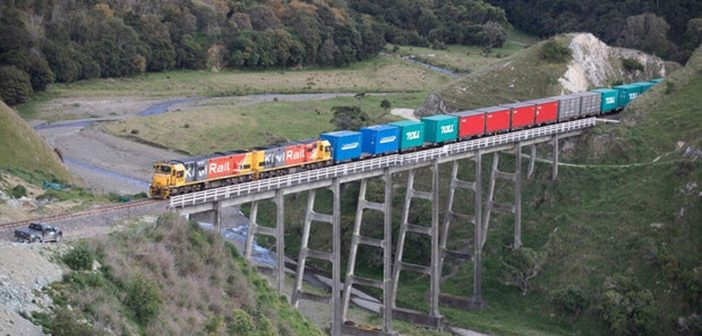 First freight train rolls through Kaikoura