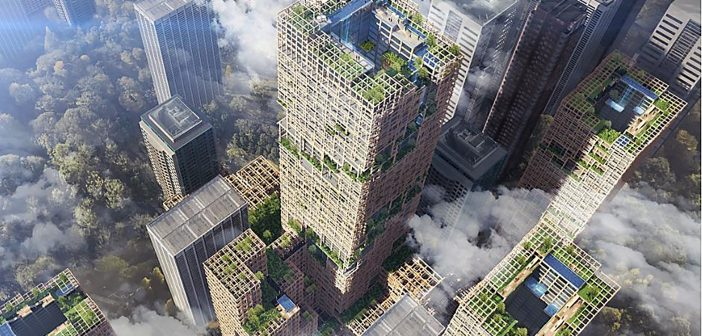 World's Tallest Wooden Skyscraper Proposed for Tokyo
