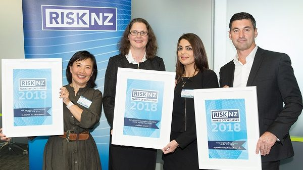 Auckland Council and Unison honoured at RiskNZ annual awards